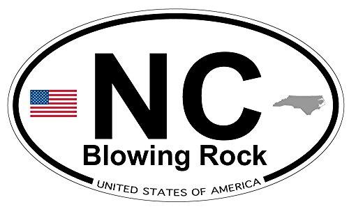 Blowing Rock, North Carolina Oval Sticker (North Carolina Blowing Rock)