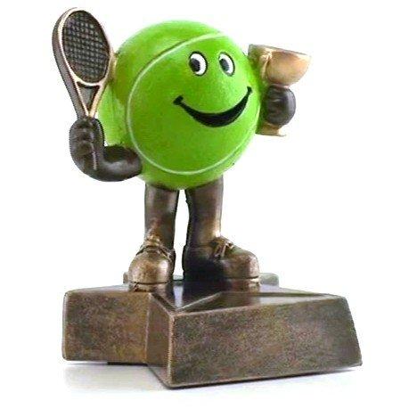 テニスLil ' Buddy Trophy – カスタマイズNow – Personalized Engraved Plate Included & Attached to award – Perfectテニストロフィー – ハンドペイントデザイン B074PBSNYZ