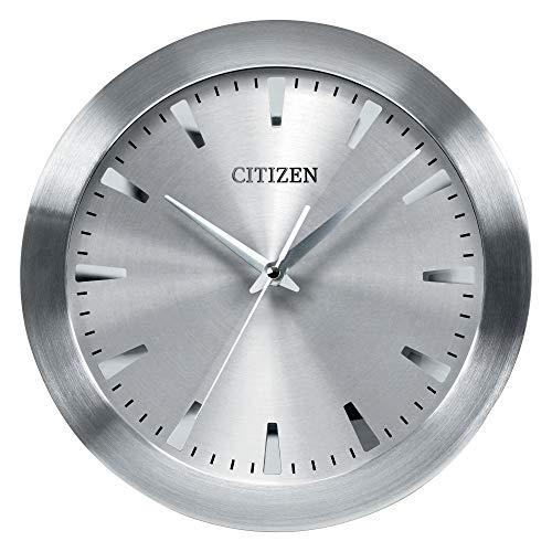Citizen CC2003 Gallery Wall Clock, Silver-Tone