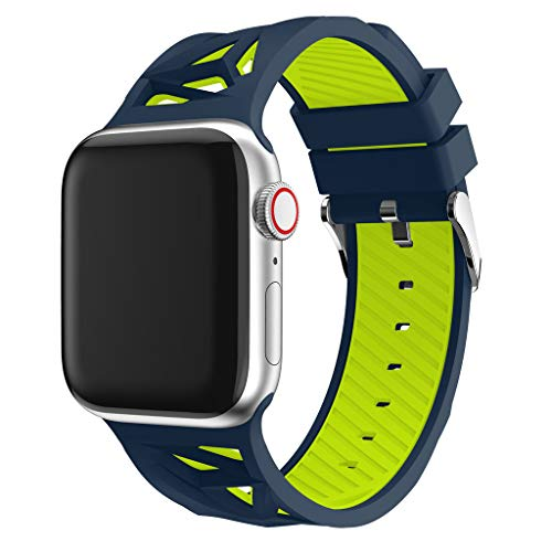 Haluoo Bands for Apple Watch Band 38mm 40mm, Soft Silicone Sport Replacement Band Lightweight Strap Wristband Bracelet for iWatch Apple Watch Series 4 (40mm) Series 3 Series 2 Series 1 (38mm) (Navy)