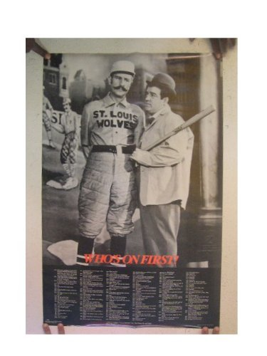 Who's On First Poster Bud Abbott And Lou Costello