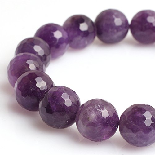 Natural Round Faceted Multicolor Amethyst Gemstone Loose Beads for Jewelry Making Handmade DIY One Strand 15