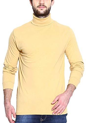80d2a64c7a8 Dream of Glory Men s Cotton Full Sleeve High Neck Sweat-shirt (Primrose  Gold