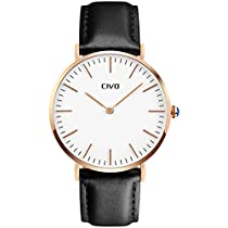 CIVO Mens Watches Ultra Thin Quartz Analogue Waterproof Wris...