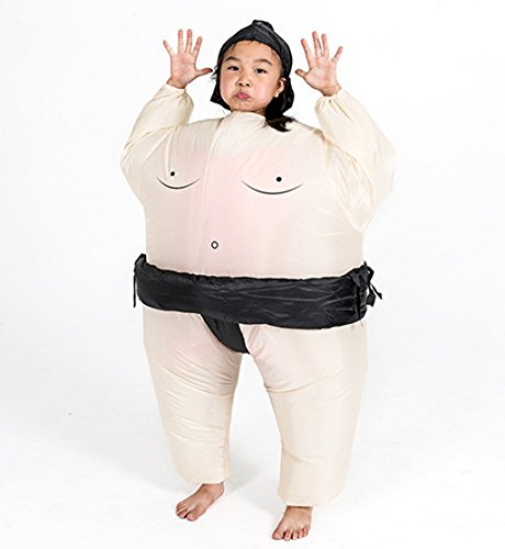 DH Inflatable Costume Halloween Funny Cosplay Japanese Sumo Suit - KIDS SIZE -