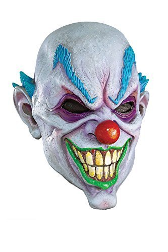 Adults Rubies 3/4 Scary Clown Mask New Mens Halloween Horror Circus Fancy Dress by Rubies Clown 3/4 Mask