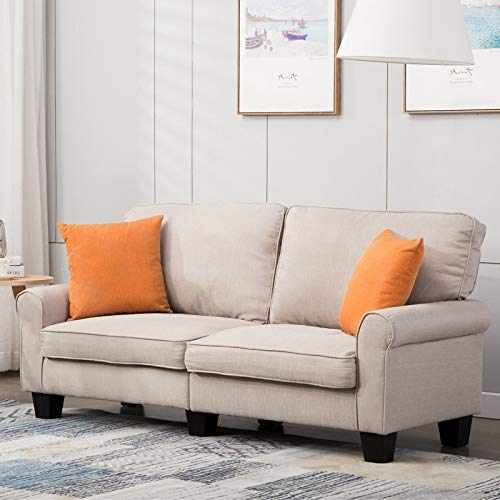 Amazon Com Mecor Loveseat Sofa Linen Fabric Loveseat