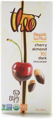 Theo Organic Chocolate Classic Cherry Almond 70% Dark (Dark Chocolate Cherry Almond)