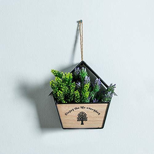 RENS - Jarrón de Pared para decoración de Interiores, Exteriores, jardín, Porche, Negro 1: Amazon.es: Jardín