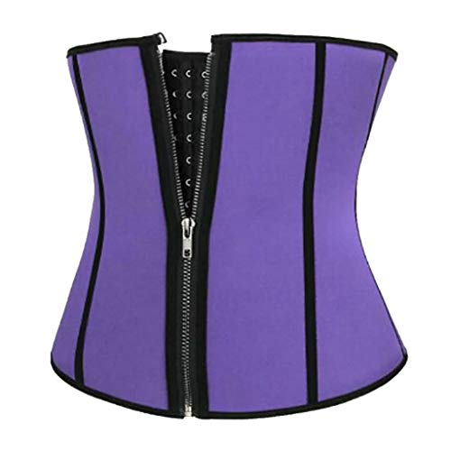 (Women Tummy Control Waist Corset Sports Girdle Workout Body Shaper Compression Belly Loss Weight Slimming Body by Lowprofile Purple )