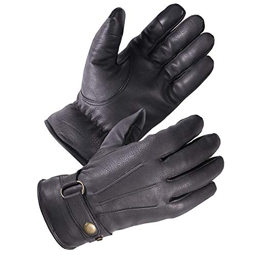 Genuine Deerskin Driving Gloves - SKYDEER Premium Genuine Deerskin Leather Touch-Screen Winter Driving Gloves for Extreme Cold Condition (SD8681T/L)