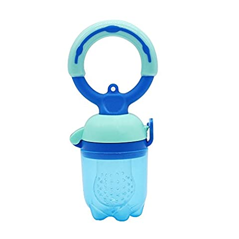 Sealive 1 Pc Baby Pacifiers Baby Food Feeder Teether,Soft Silicone Nipple Soother Teat Bottles with Fresh Fruits Vegetables (Nubby Place Mat)