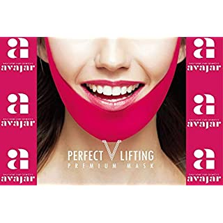 Avajar Perfect V Lifting Premium Mask 1ea- a woman's age is determined by her jaw line