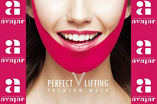 Avajar Perfect V Lifting Premium Mask 1ea- a woman's age is determined by her jaw line -