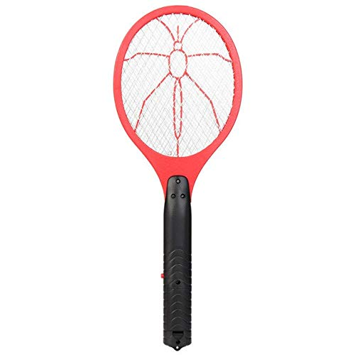 Electric Fly Swatter Killer Racket Practical Insect Bug 3 Layer Mesh Fly Mosquito Zapper Tools Home Garden Pest Control Supplies   Red