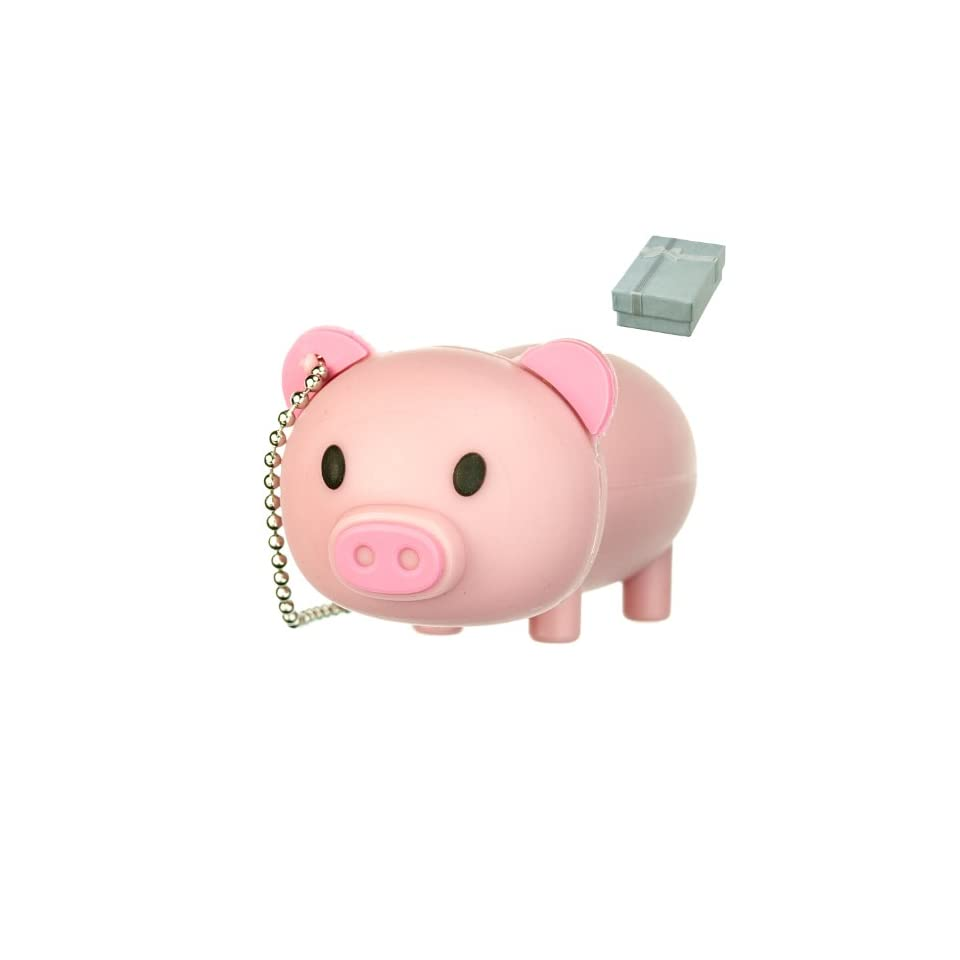 Cute Pink Farm PIG Animal keychain 8GB USB Flash Drive   in Gift box   with GadgetMe Brands TM Stylus Pen and comes in GadgetMe retail packaging