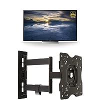 Sony XBR55X930D 55-Inch 4K Ultra HD 3D Smart TV + AmazonBasics Articulating TV Wall Mount