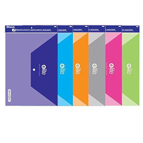Price comparison product image BAZIC Clear Letter Size Document Holders (2 / Pack)