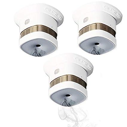 heiman Reddot Precio Wireless zigbee Detector de humo Fuego Alarma EN14604 CE aprobado 3 piezas/