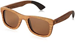 Woodzee Sierra Polarized Rectangular Sunglasses,Black Dip,53 mm