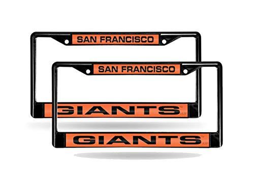 (Rico San Francisco Giants MLB (Set of 2) Black Metal Laser Cut License Plate Frames)
