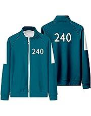 Squid Game Sweatshrit Merch 001 067 Hoodie Unisex Rits Trainingspakken 218 456 Jas Tops