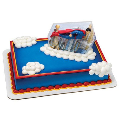 Superman Cake Topper Decorating Set (Flying Superman)
