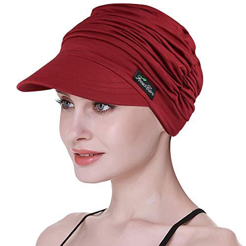 Weiche Hüte für Chemo Frauen Bambus Baseball Cap Haarausfall Turbans