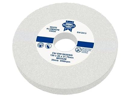 Faithfull 200 x 25mm Medium General Purpose Grinding Wheel - White FAIGW20025WG