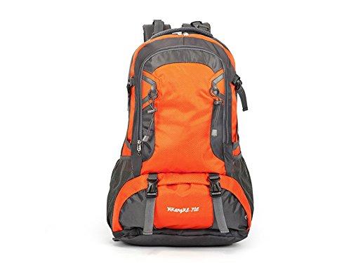 ハイキングオスとメスアウトドア防水登山バックパックハイキング旅行用バッグ(オレンジ) アウトドアトラベル   B07FM1HVMZ