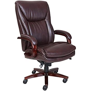 amazon com la z boy edmonton bonded leather office chair coffee