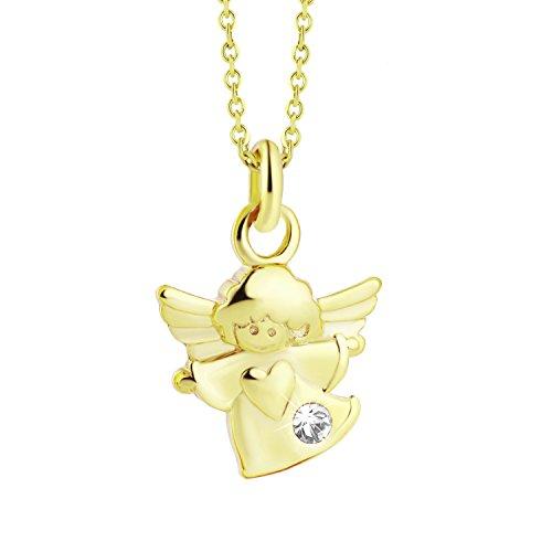 64fdabcd021a Venta caliente 2018 Collar de oro con colgante de ángel de la guarda 333 de  8