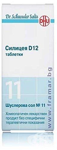 Silica 200 Tabs - Dr. Schüssler Salts 11 - Silicea D12 Elasticity Firmness of Hair Nails Skin 200 tabs