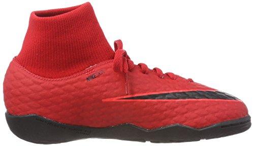 Cramoisi Mixte Football Nike 616 Noir Université de Chaussures Rouge Enfant DF Hypervenomx 3 IC Brillant Jr Phelon Rouge q846qfz