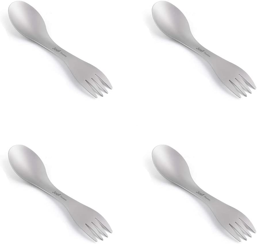 Spoon and Fork 2-in-1 Great for School Lunch Only 18g JEEF Titan Spork Camping Besteck 16.5cm Picnics and Party Supply