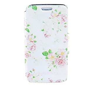 SHOUJIKE Kinston Beautiful Flowers Pattern PU Leather Full Body Case for Samsung S5 I9600