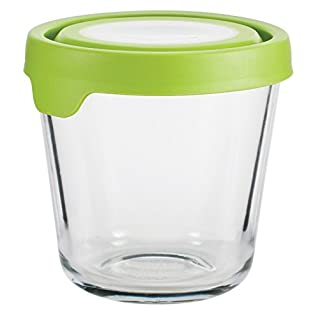 Anchor Hocking Trueseal Glass Food Storage Containers Airtight Lids, 3.5 Cup Tall, Green - 12191ECOM