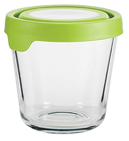 01cd5b9114e3 Anchor Hocking Trueseal Glass Food Storage Containers Airtight Lids, 3.5  Cup Tall, Green
