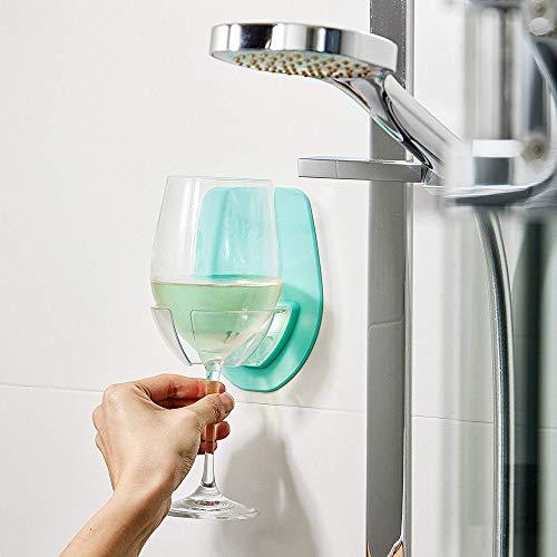 Watt Plastic Wine Glass Holder For The Bath Shower Red Wine Glass Holder (Green)