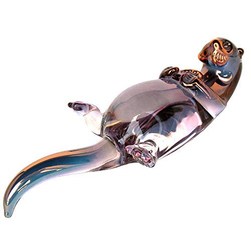 Prochaska Gallery Hand Blown Glass Sea Otter Figurine