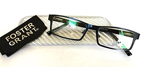 Foster Grant +1.00 Men's Rectangular Multifocus Glasses-3 in 1- Reading/ Computer/ Across - Ban Ray Computer Glasses