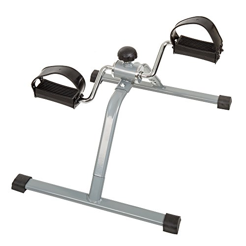 (Wakeman Portable Fitness Pedal Stationary Under Desk Indoor Exercise Machine Bike for Arms, Legs, Physical Therapy or Calorie Burner)