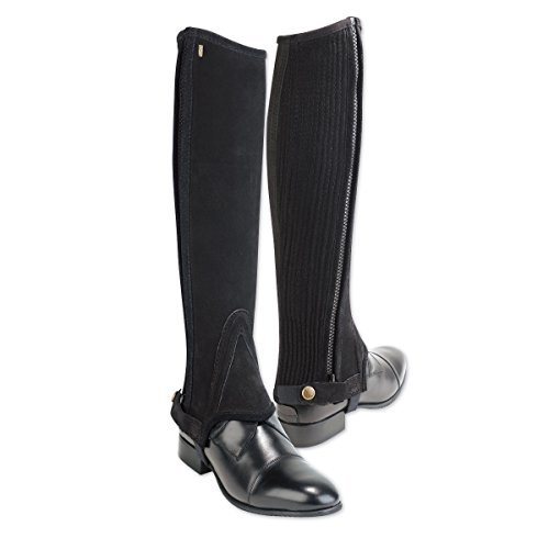 (Tredstep Ireland Original Suede Half Chaps - Black Calf 16/Height 17)