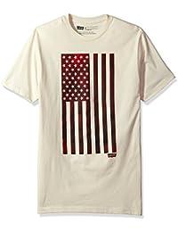 Men's Woosah T-Shirt with American Flag Graphic