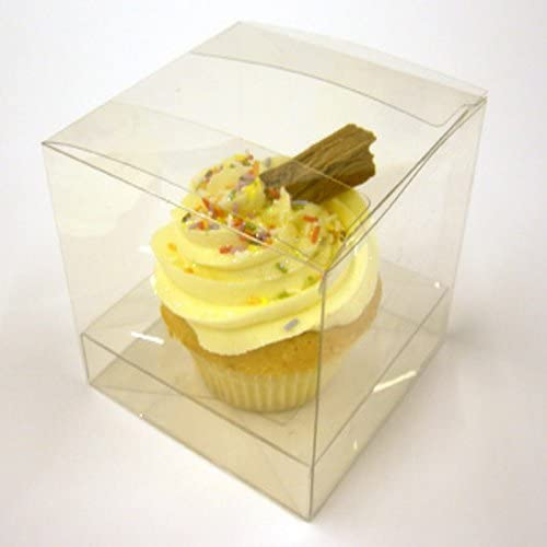 Surprising Pack Of 25 Clear Cupcake Boxes For 1 Cupcake With Clear Incert Personalised Birthday Cards Arneslily Jamesorg