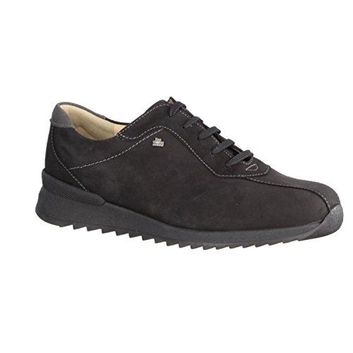 de negro mujer de Street Negro Negro Piel Zapatos Sarina Schwarz FINNCOMFORT cordones para wROqf1EZ