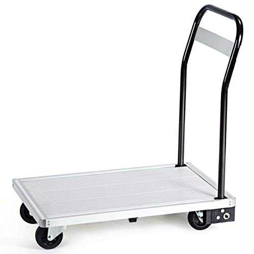 440 lbs Folding Platform Aluminum Cart Hand Dolly Moving Push Warehouse Heavy Foldable Home Hardware Tools Dollies & Trucks Business & Industrial Material Handling Truck & Wagon Commercial Household from Lek Store