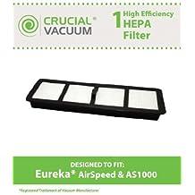 1 Eureka Airspeed HEPA EF-6 Filter Fits Eureka Airspeed AS1000 Series Upright Vacuums; Compare to Eureka EF6, EF-6 Part # 83091-1, 830911, 69963; Designed & Engineered by Crucial Vacuum