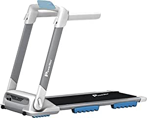 Powermax Fitness TD-M4 2 HP (4 HP Peak) Plug and Run (100% Preinstalled) Motorised Treadmill - Free Installation Assistance - 3 Years Motor Warranty - with Android & iOS App & 100% Flat Surface