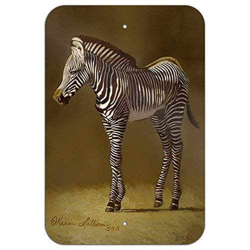 Metal Zebra Wall (Baby Zebra Young Foal Home Business Office Sign Metal Tin Signs for Home Bar Garage Fence Yard Office Sign)